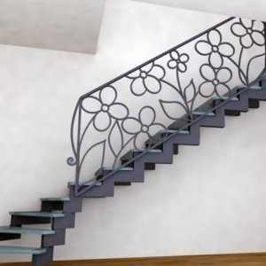 Rendering of staircase that was actually built.