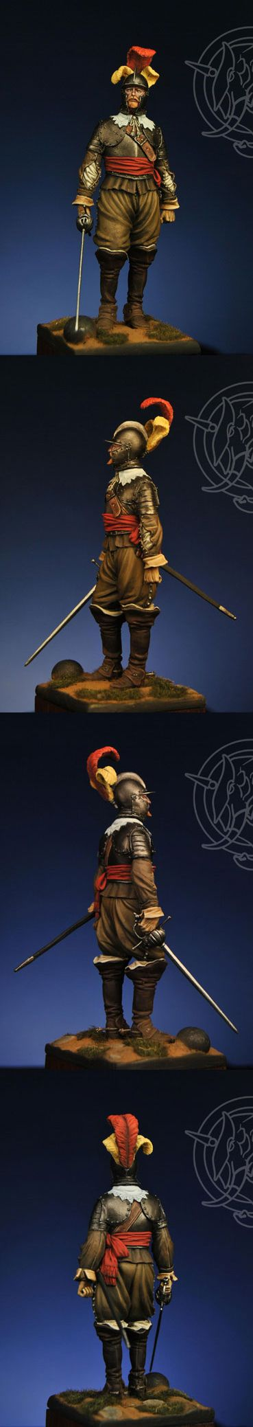 Officer of the Spanish Tercios at Rocroi (1643), by Romeo Models.