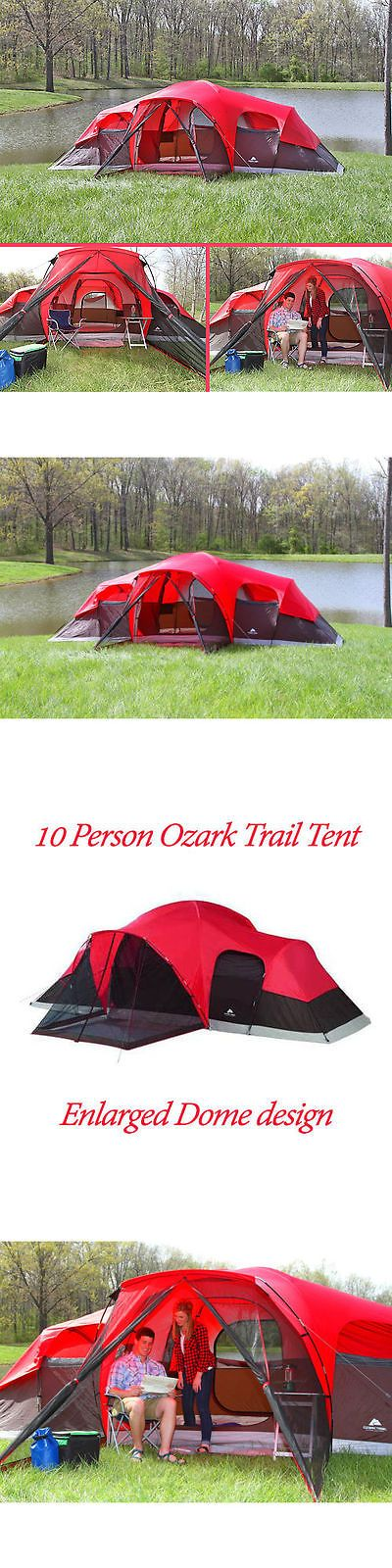 Tents 179010: Camping Tent 10 Person Large Cabin Easy Setup Family Shelter Hiking Outdoor New -> BUY IT NOW ONLY: $118.2 on eBay!