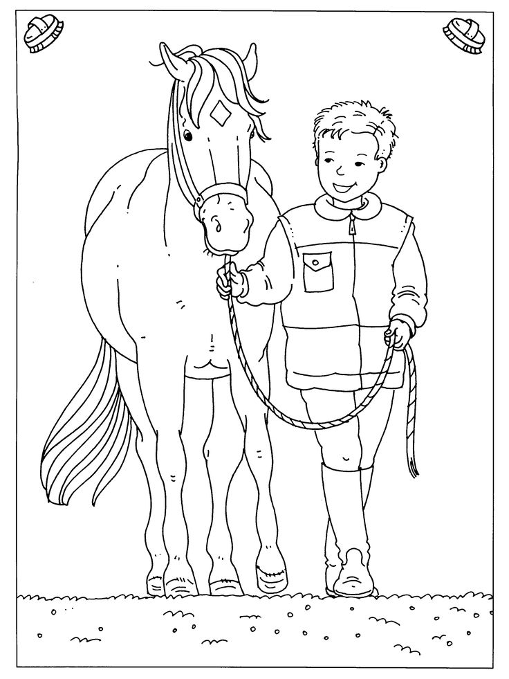 preschool horse coloring pages - photo#13