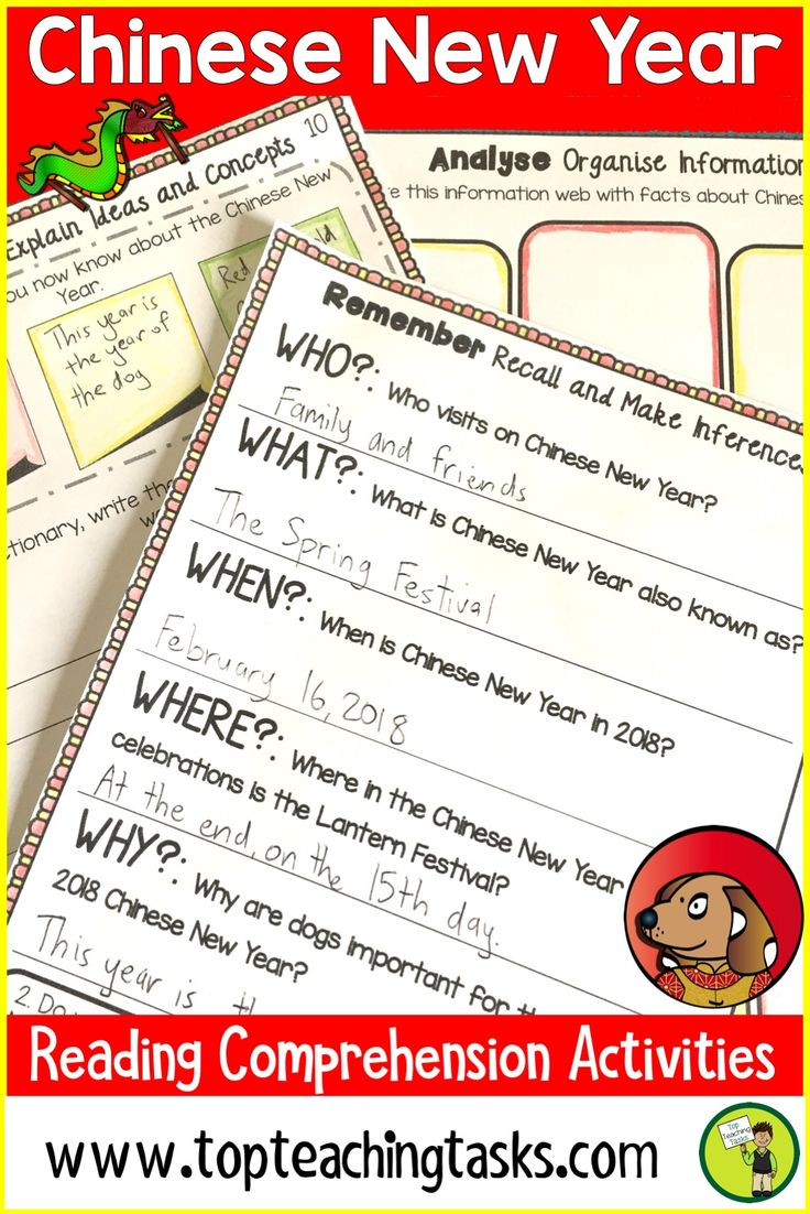 Chinese New Year Reading Comprehension Activities. This resource has everything a teacher needs for a unit on Chinese New Year. Differentiated Reading Passages along with Close Reading higher order thinking activities make this unit of study interesting and engaging for students. Learn about the preparations for Chinese New Year and the various traditions. #ChineseNewYear #Reading #ReadingActivities #YearFive #YearSix #GradeFour #GradeFive #ChineseNewYearActivities