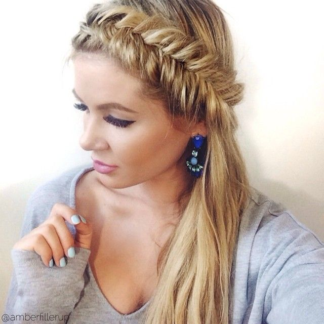 http://www.howcast.com/videos/511479-How-to-Do-a-Fishtail-Headband-Braid-Tutorials