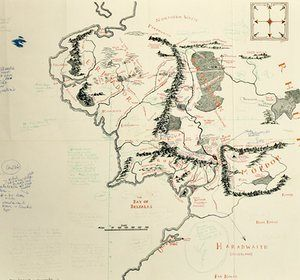 22 best maps images on pinterest maps cards and map of middle earth tolkien annotated map of middle earth acquired by bodleian library sciox Gallery