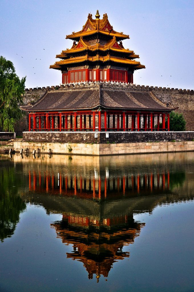 Reflections At The Forbidden City Beijing China