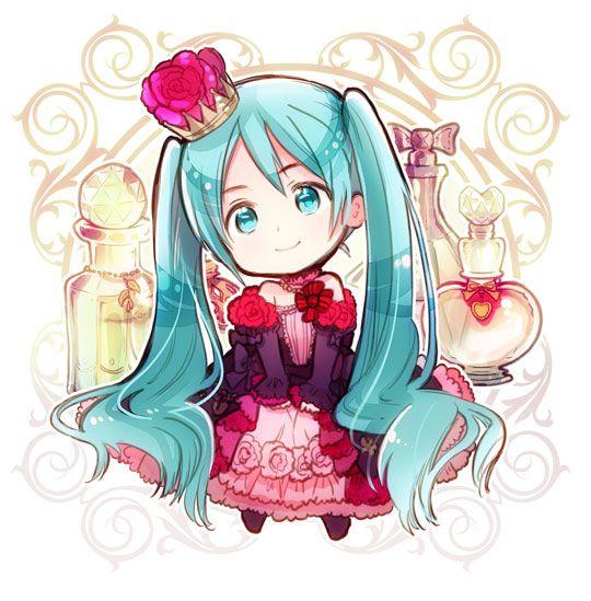 Chibi Miku, Vocaloid - Art by Himaruya Hidekaz, creator of Hetalia
