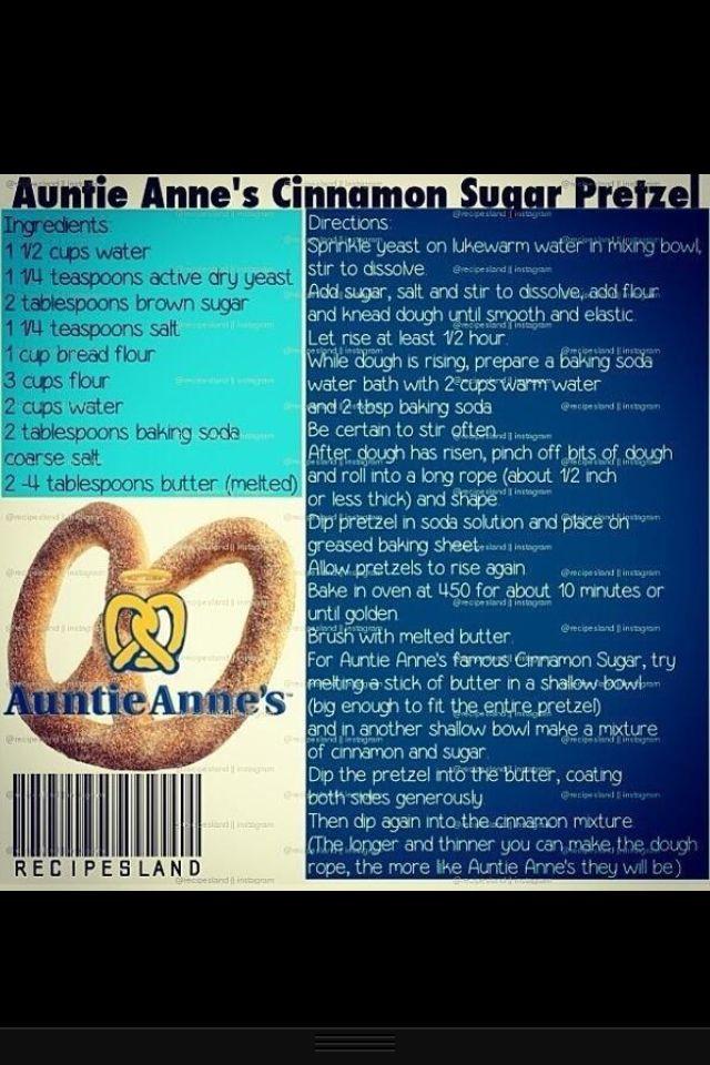 Auntie Anne's Pretzel Recipe