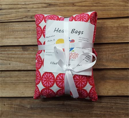 Heat/Cold Bags - Small handmade from donated fabric and filled with Luptin beans. Proceeds go to Puddle Jumpers children's charity