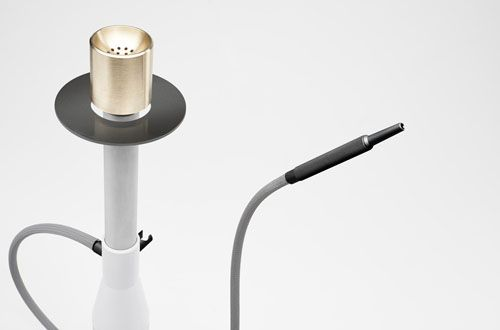 IOOI Hookah By Christian Zanzotti, Sophisticated Materials, Like Anodised  Aluminium, Polished Brass, Crystal Clear Glass And 3D Printed Parts To Tru2026