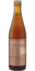 Meinklang Urkorn Bier - Demeter certified biodynamic beer from Austria. 'Urkorn Bier' = Ancient Grains Ale, traditional, nearly extinct varieties of grain like Einkorn, emmer, and spelt are among the oldest grains known...unique and good for you.