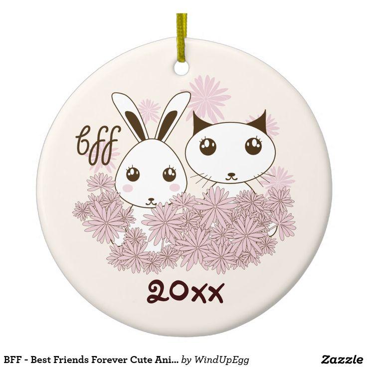 Original Design Cute Girl Friendship Christmas Ornament