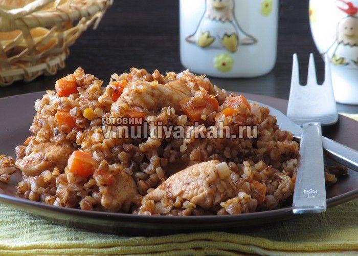 Гречка с курицей в мультиварке: пошаговый рецепт с фото | Готовим в мультиварках