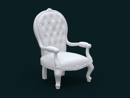 1:10 Scale Model - ArmChair 02 by sidnaique
