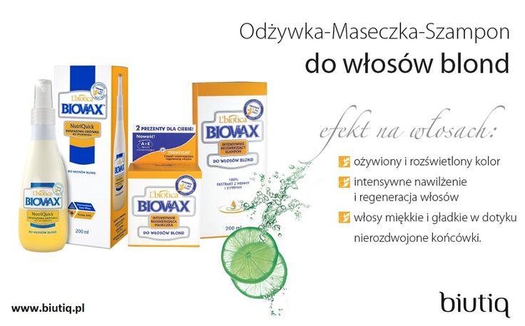 Biovax - seria produktów do włosów blond