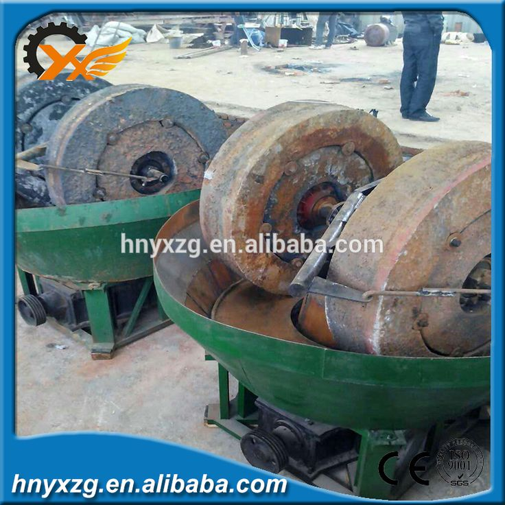 Gold grinding machine/wet pan mill for pure gold,wet gold grinding machine with high quality