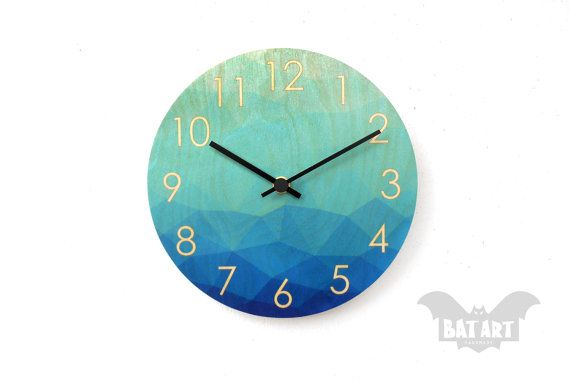 Abstract blue diamonds Wall Clock 20cm  Blue Shade by BatLab