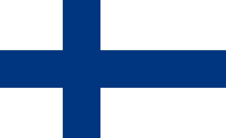 Flag of Finland - Bandeiras da Europa – Wikipédia, a enciclopédia livre