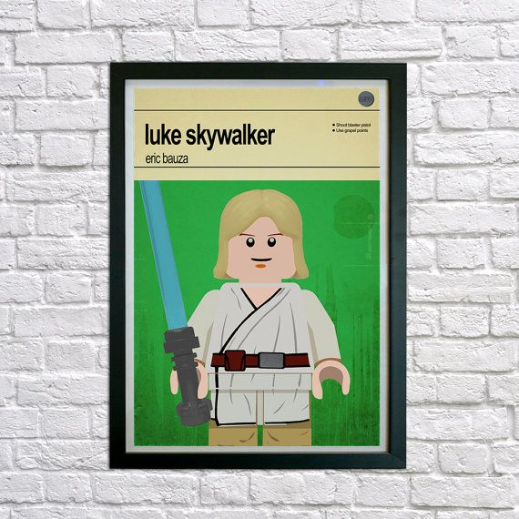 Lego Star Wars Luke Skywalker  Poster print by houseofprintsshop