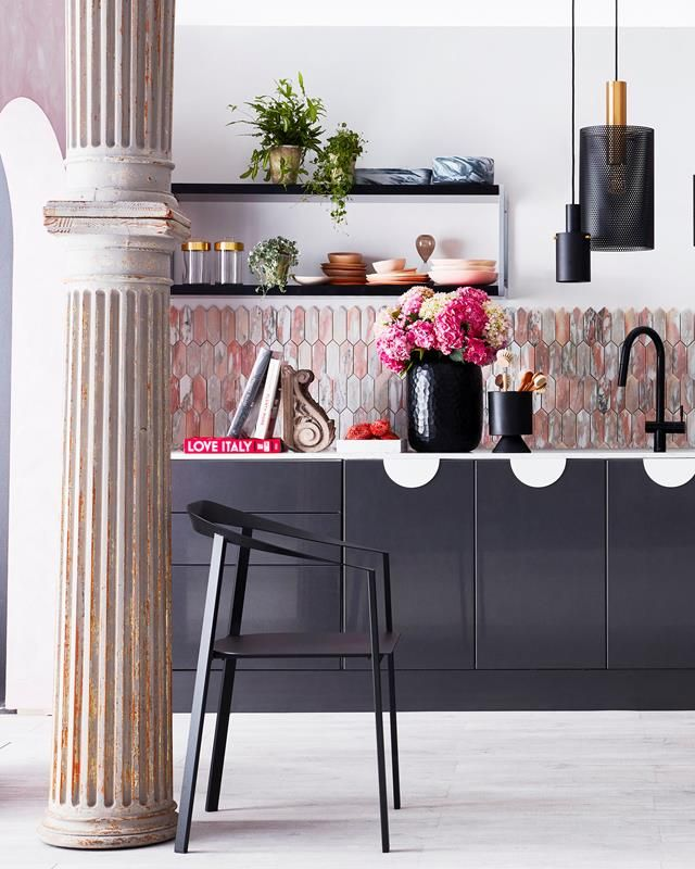 A Bold Kitchen Design With A Hint Of Luxe Bold Kitchen Kitchen Decor Items Luxury Kitchen Design