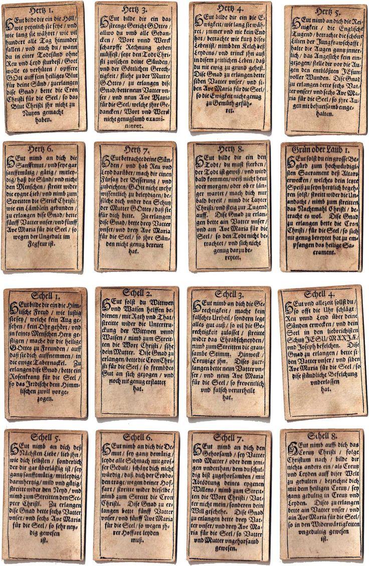 Geistliche Karten, Augsburg, 1718