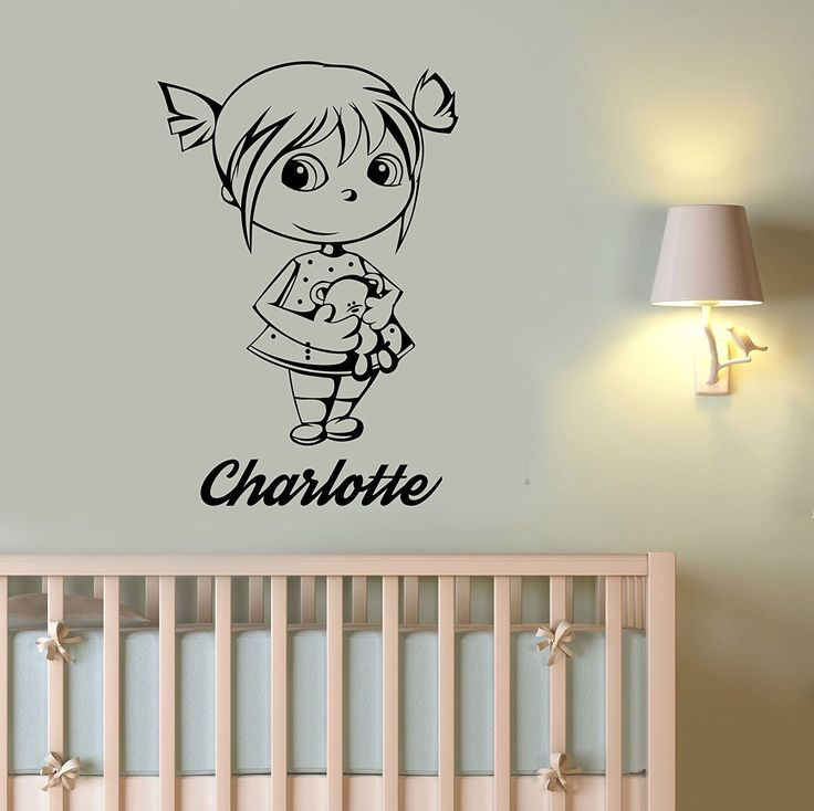 Custom Name Wall Decal Girl Teddy Bear Vinyl Sticker Personalized Art Decorations for Home Kids Room Playroom Nursery Decor tbr11 >>> Don't get left behind, see this great product offer  : Nursery Decor