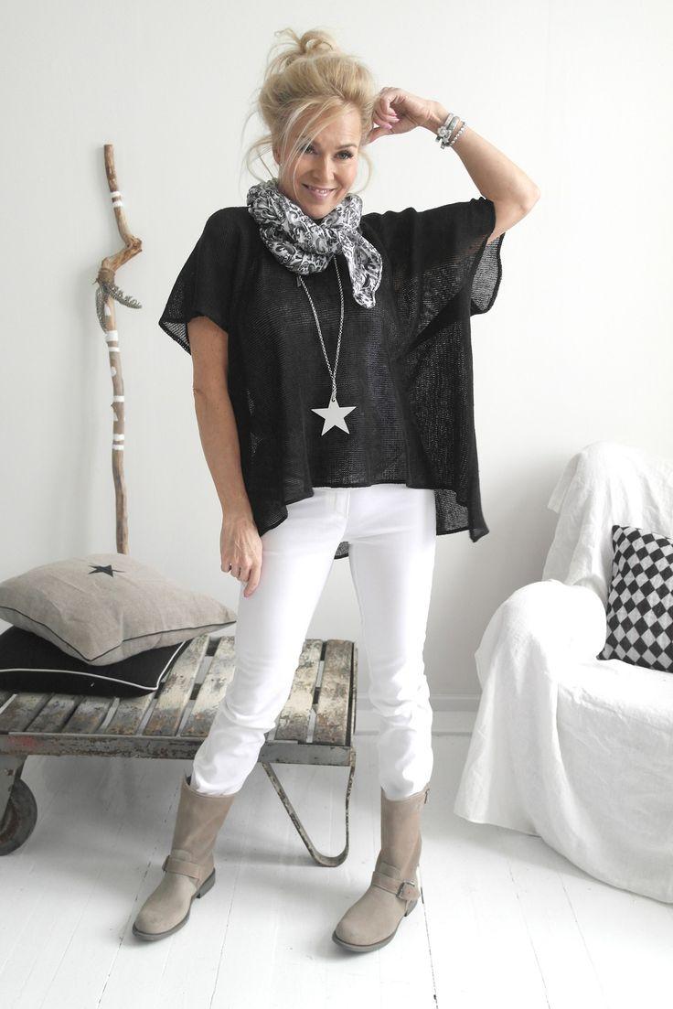Oversize Linen Knit, BLACK