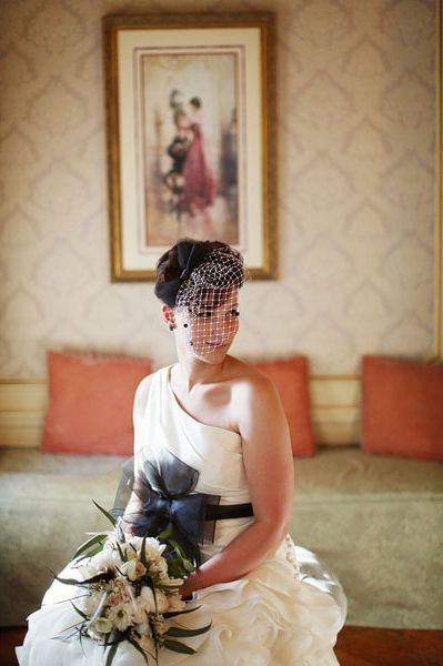 Gorgeous hair + wedding dress...the whole ensemble is perfection! Photo by Alison Conklin