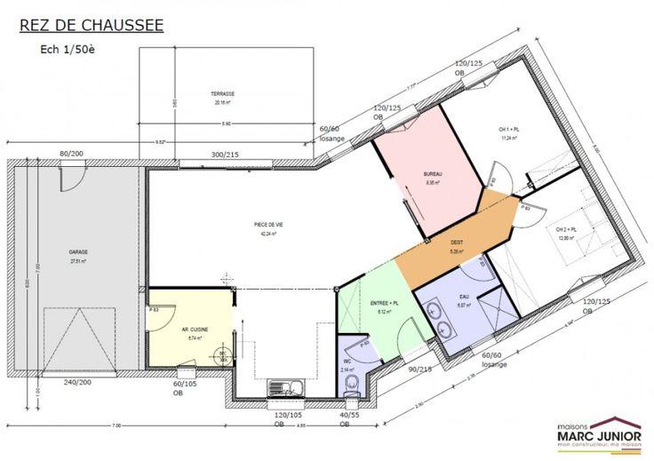 tag plan de maison plein pied en. Black Bedroom Furniture Sets. Home Design Ideas