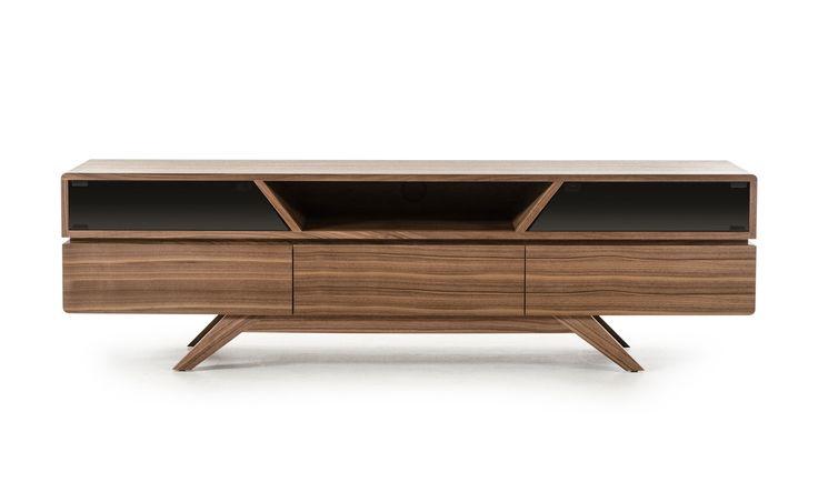 Modrest Soria Modern Walnut TV Stand