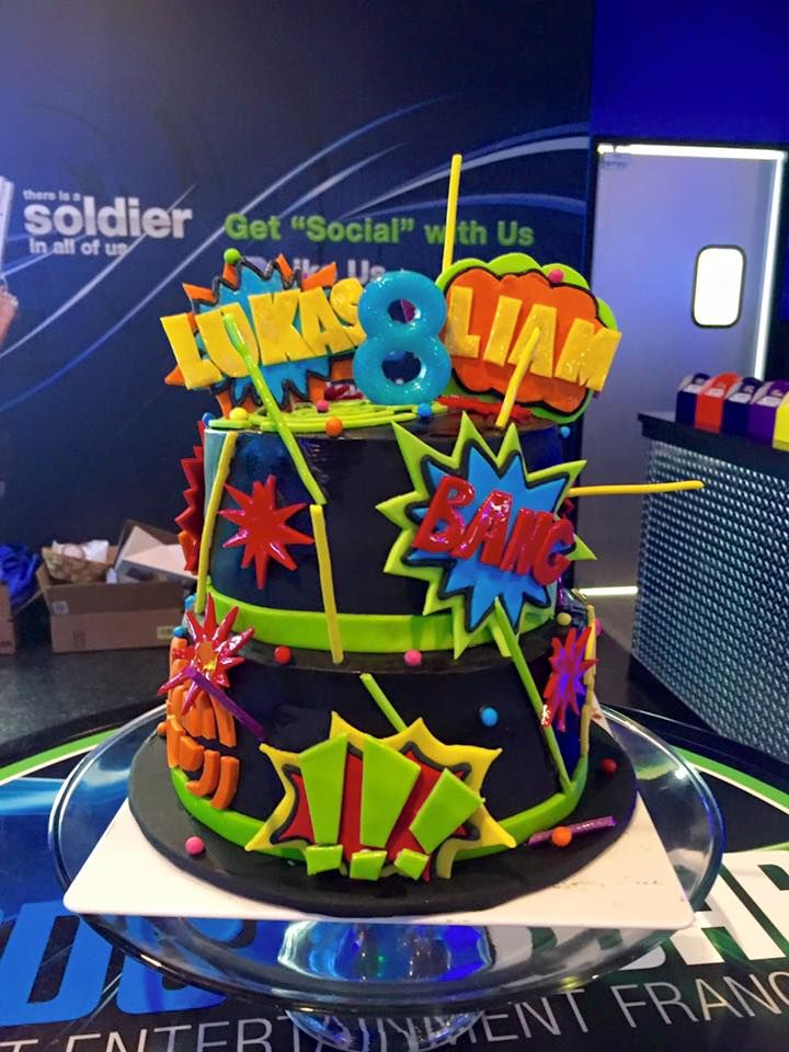 laser tag cake january 2016                                                                                                                                                     More