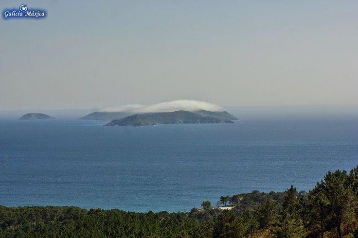 Desde el Mirador de A Siradella, en O Grove. Vista de una de las mejores playas…