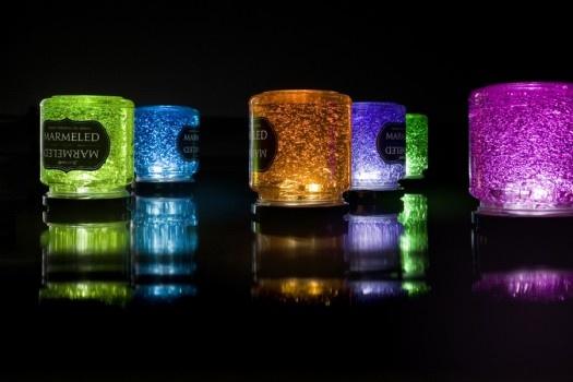 Lámparas Marmeled, lámparas de mesa que funcionan con baterias, wireless y sin interruptores!!  frogx3.com