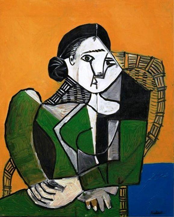 Pablo Picasso - Femme assise dans un fateuil, 1953