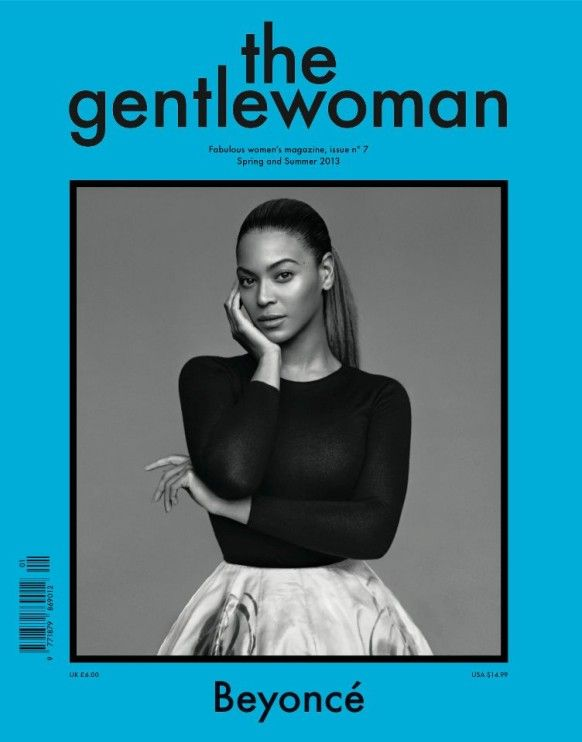 Beyoncé Knowles gracing the cover of The Gentlewoman via Into the Gloss