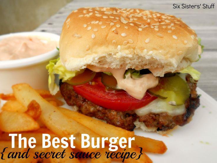 The BEST hamburger recipeSauces Recipe, Hamburger Recipes, Amazing Secret, Best Hamburgers Recipe, Bbq Sauces, Secret Sauces, Fathers Day, Six Sisters Stuff, The Secret
