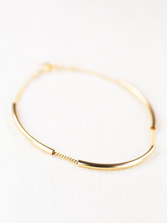 bracelet - minimal gold bracelet, delicate gold bracelet, modern gold bracelet, layering bracelet .