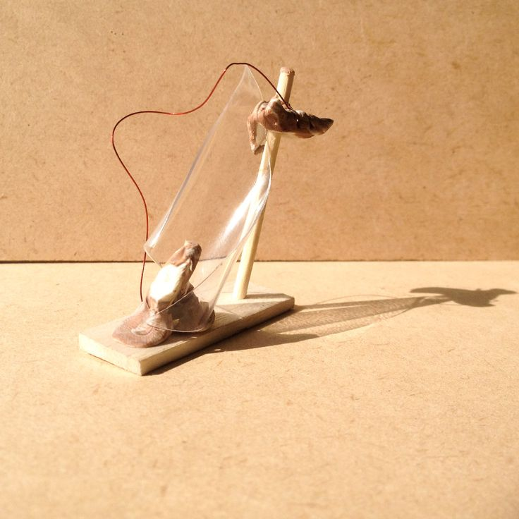 exercise five / model J: transparency film, balsa wood, wire, bamboo stick and moulding clay
