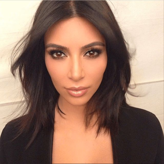 Medium-Length Hairdos Perfect for Thick or Thin Hair: Kim Kardashian