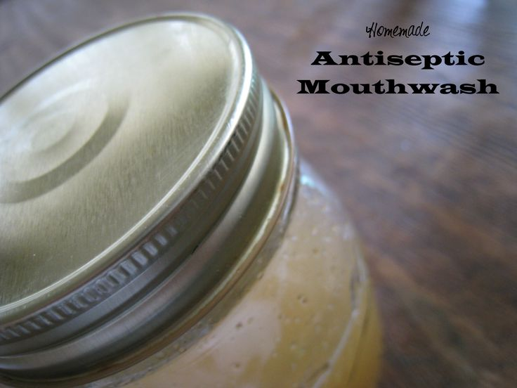 Mouth Salt or Lemon Rinse Use half cup of warm water and ½ teaspoon of salt, mix them well until it becomes a clear solution and rinse your mouth with it before going to bed. Within a few days you will find your gums turning more pink, showing a sign of good oral health. This will also help you get rid of the bad breath.    You can also substitute lemon with salt to make this mouth wash. Lemon inhibits bacteria formation in the gums and tongue.  http://myhealthlist.net