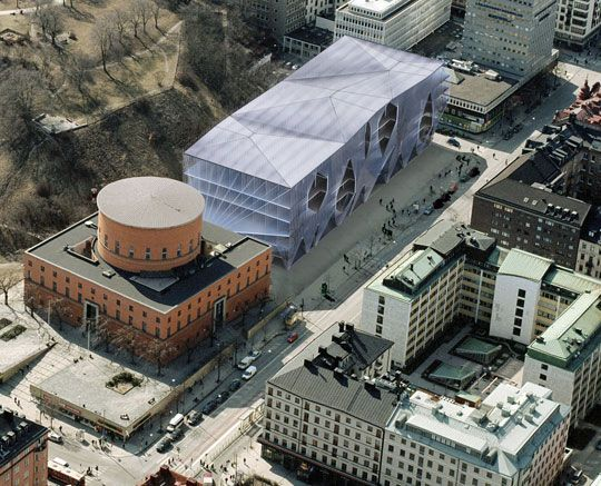 Stockholm Library Competition - rendering by Studio ST
