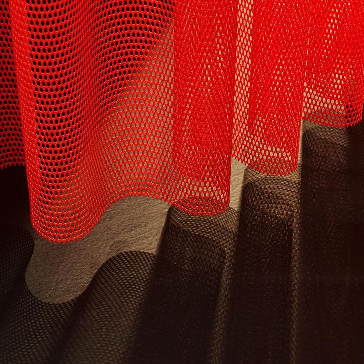 A play of light and texture. The knitted Rocket curtain in Kvadrat's London showroom