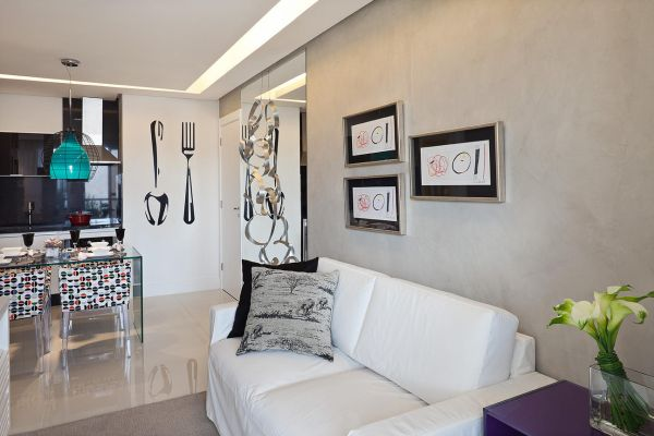 75 best sala de estar jantar images on pinterest On pintura para apartamentos pequenos