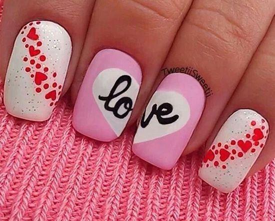 manicura SanValentin 11 15 manicuras de corazones para enamorar