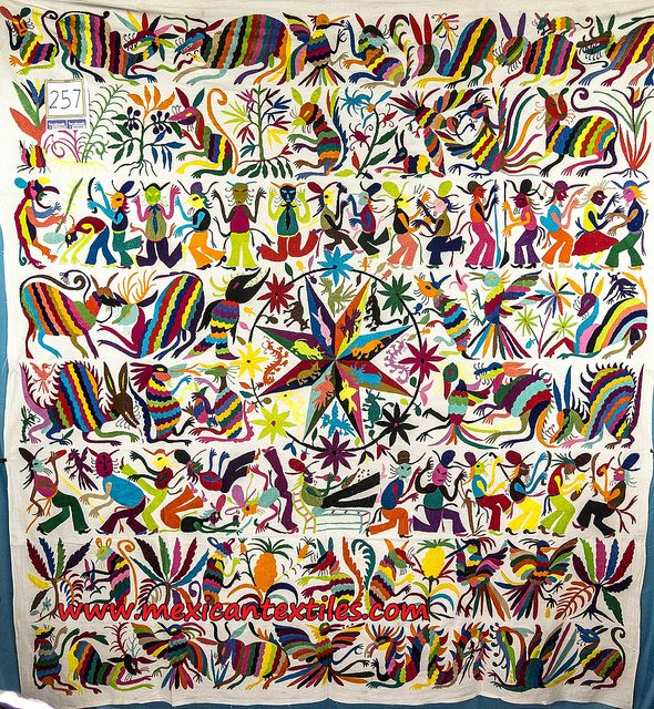 I'm so in love with Otomi embroidery