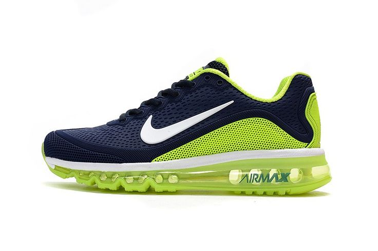 New Coming Nike Air Max 2017 5 KPU Dark Blue Shoes Fluorescent Green