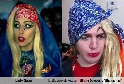 "Lady Gaga and Shane Dawson's ""Shanaynay""... they could be twins."
