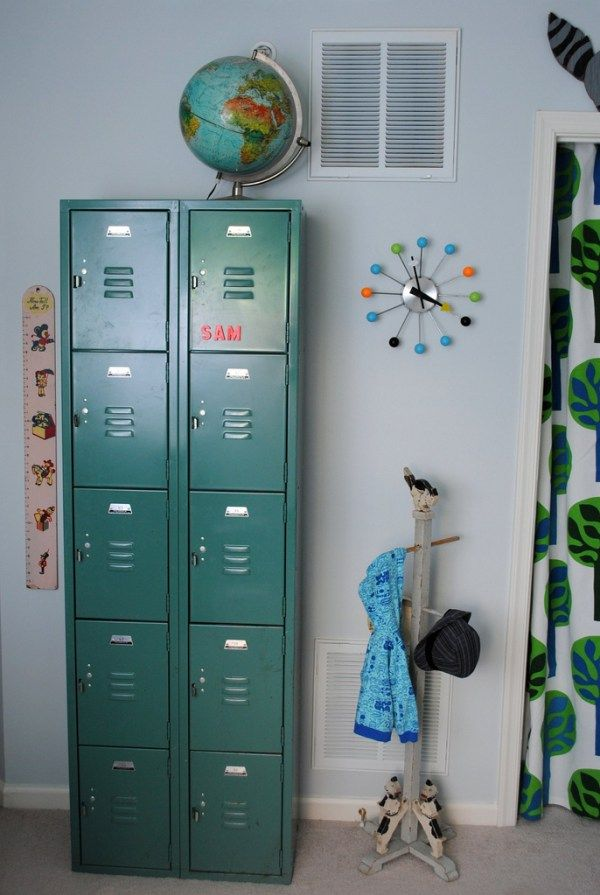 Locker Storage in Kids Rooms - Design Dazzle