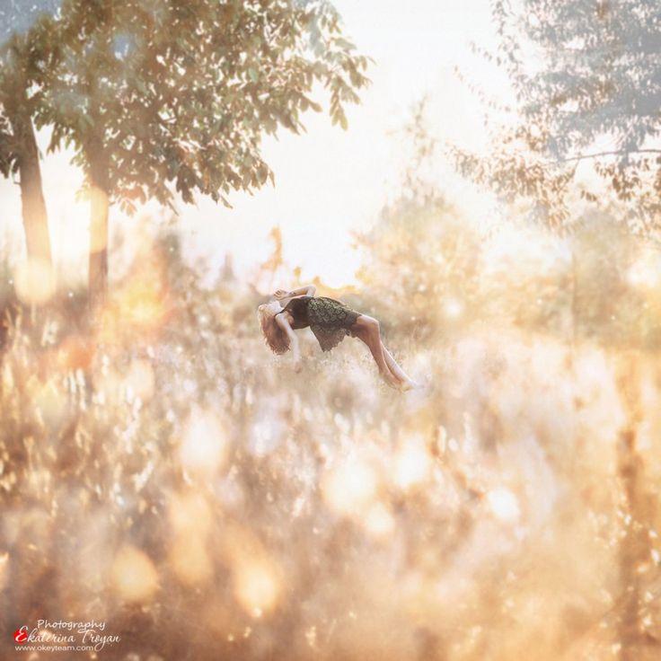 Ekaterina Troyan Art & Creative okeyteam kate troyan photo girl portrait woman red hair mistic dress elf levitation