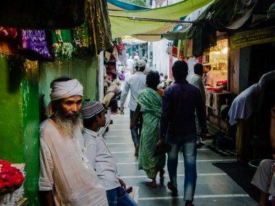 Outside the Dargah, Mehrauli, New Delhi, India