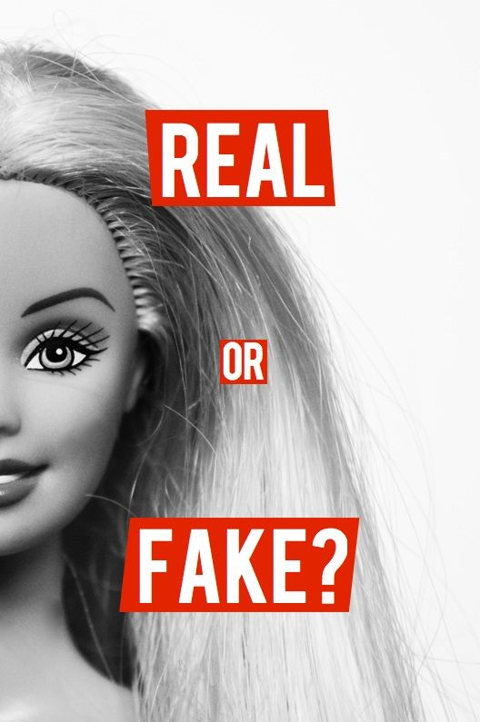 the idea of people in todays society not being able to tell the difference of real and fake because no one excepts how they naturally look so they feel the need to change the way they look.