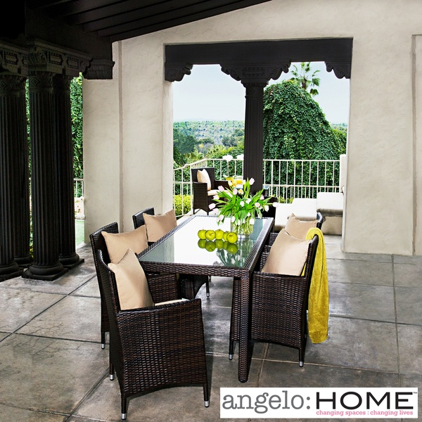 Overstock Wicker Dining Table And Chairs